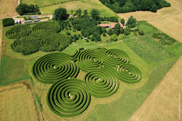 labyrinthes hauterives