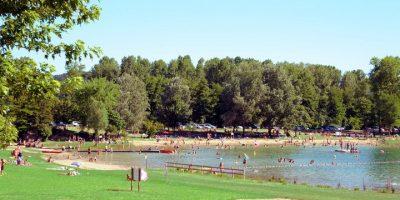 Lac champos baignade plage drôme
